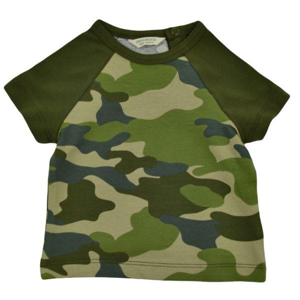 Camo grün bio baby t-shirt